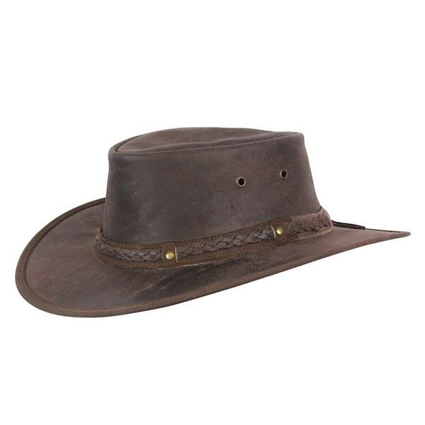 Conner Handmade Hats Cowboy Western Leather:  Kangaroo Crossing Brown