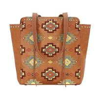 American West Handbag Adobe Allure Collection: Leather Zip Top Tote