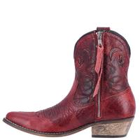 Ladies' Dan Post Boots Dingo: Fashion Shortie Adobe Rose Red