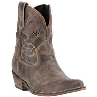 Ladies' Dan Post Boots Dingo: Fashion Shortie Adobe Rose Taupe J Toe M 6-10