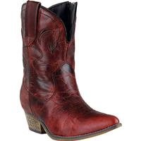 Ladies' Dan Post Boots Dingo: Fashion Shortie Adobe Rose Red J Toe M 6-10
