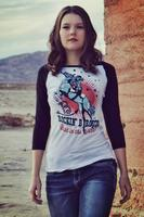 Original Cowgirl Clothing: Rockin' B Ranch Vintage Rodeo Girl Baseball Tee S-2XL