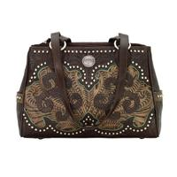American West Handbag Annie's Secret Collection: Leather Multicomparment Chocolate