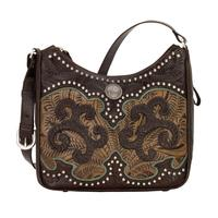 American West Handbag Annie's Secret Collection: Leather Shoulder Chocolate