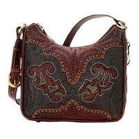American West Handbag Annie's Secret Collection: Concealed Carry Leather Shoulder Distressed Crimson