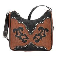 American West Handbag Annie's Secret Collection: Concealed Carry Leather Shoulder Antique Brown