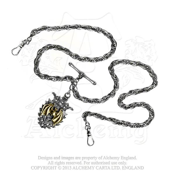 Alchemy Accessory Steampunk: Magistus' Double-Albert Fob Chain
