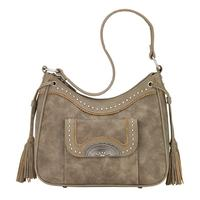 Bandana Handbag Guns & Roses Collection: Concealed Carry Shoulder Taupe