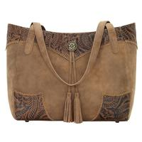 Bandana Handbag Guns & Roses Collection: Secret Tote Medium Brown/Chestnut