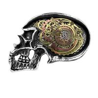 Alchemy Buckle Steampunk: Anima Machinato Futurus Skull