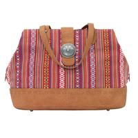 Bandana Handbag Buena Vista Collection: Southwest Multi Compartment Large Tote Red SALE
