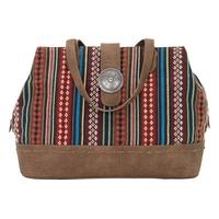 Bandana Handbag Buena Vista Collection: Southwest Multi Compartment Large Tote Brown SALE