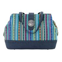 Bandana Handbag Buena Vista Collection: Southwest Multi Compartment Large Tote Blue