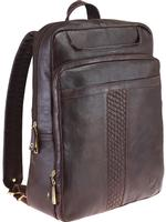 Scully Hidesign Travel Bag: Backpack Laptop Carrier Zip Closure Brown