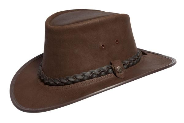 Conner Handmade Hats BC Hats: Leather Bush Walker Traveler Oily Brown