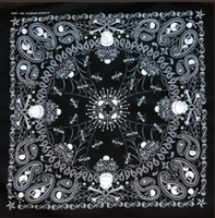 Rockmount Ranch Wear Accessory: Bandana Skull Print Black