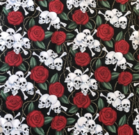 Rockmount Ranch Wear Accessory: Bandana Skulls and Roses