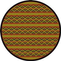 American Dakota Rug: Voices & New Enchota Collection Basket Weave 8x11 Round Drop Ship