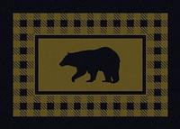 American Dakota Rug: Cabin & Camp Collection Refuge Bear Green 3x4 Scatter Drop Ship