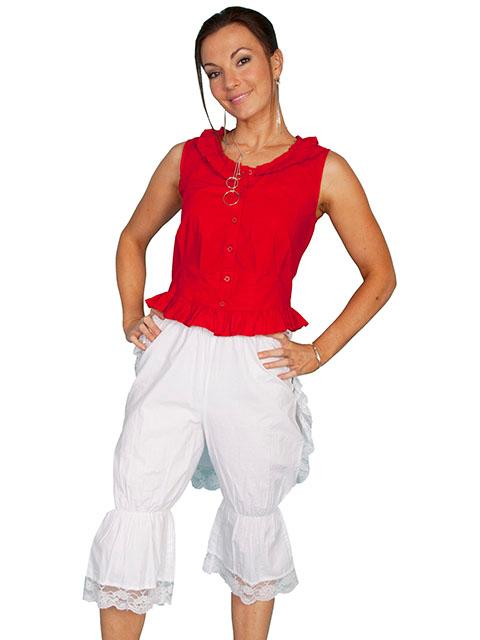 Scully Ladies' Old West Pant: Rangewear Bloomers with Bustle White
