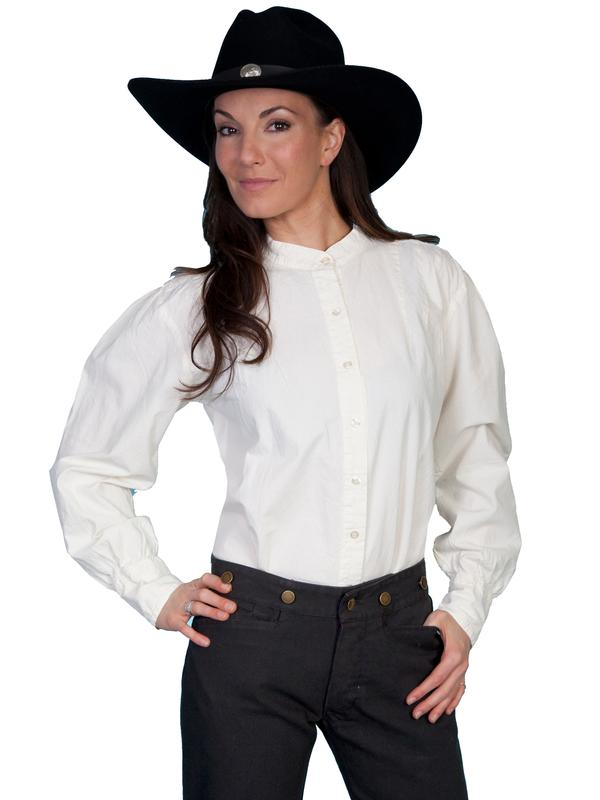Scully Ladies' Old West Blouse: Rangewear Ranch Style Ivory