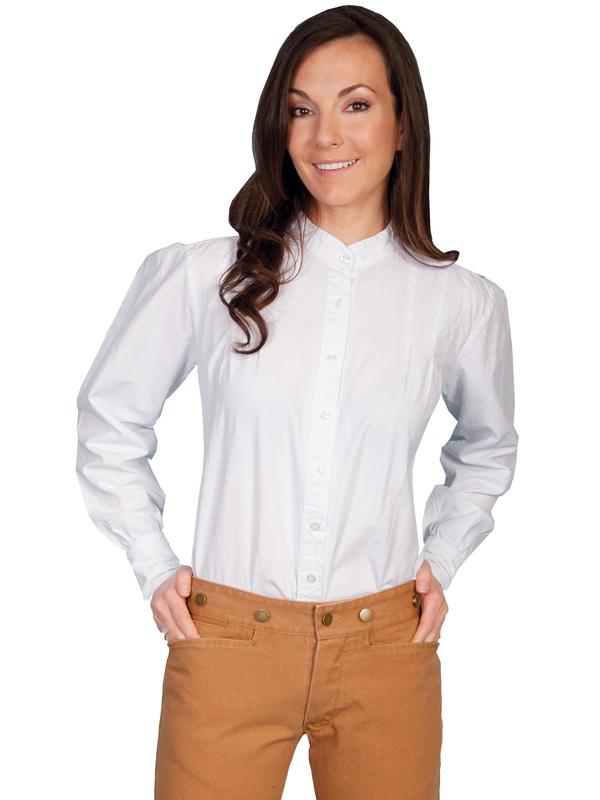 Scully Ladies' Old West Blouse: Rangewear Ranch Style White