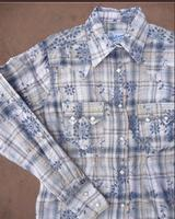 Rockmount Ranch Wear Ladies' Western Shirt: Plaid Cotton Eyelet Blue S-XL Back Ordered