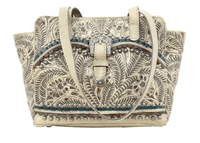 A American West Handbag Blue Ridge Collection: Concealed Carry Zip Top Tote Sand