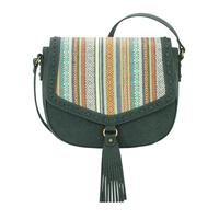 A Bandana Handbag Boho Rainbow Collection: Western Flap Crossbody Bag Pine
