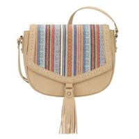 A Bandana Handbag Boho Rainbow Collection: Western Flap Crossbody Bag Sand