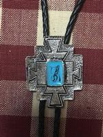 Rockmount Ranch Wear Accessory: Bolo Tie Four Winds Cross