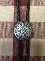 Rockmount Ranch Wear Accessory: Bolo Tie Concho Pewter