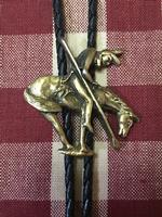 Rockmount Ranch Wear Accessory: Bolo Tie End of Trail Brass