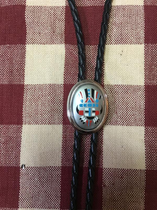 Rockmount Ranch Wear Accessory: Bolo Tie Black Kachina