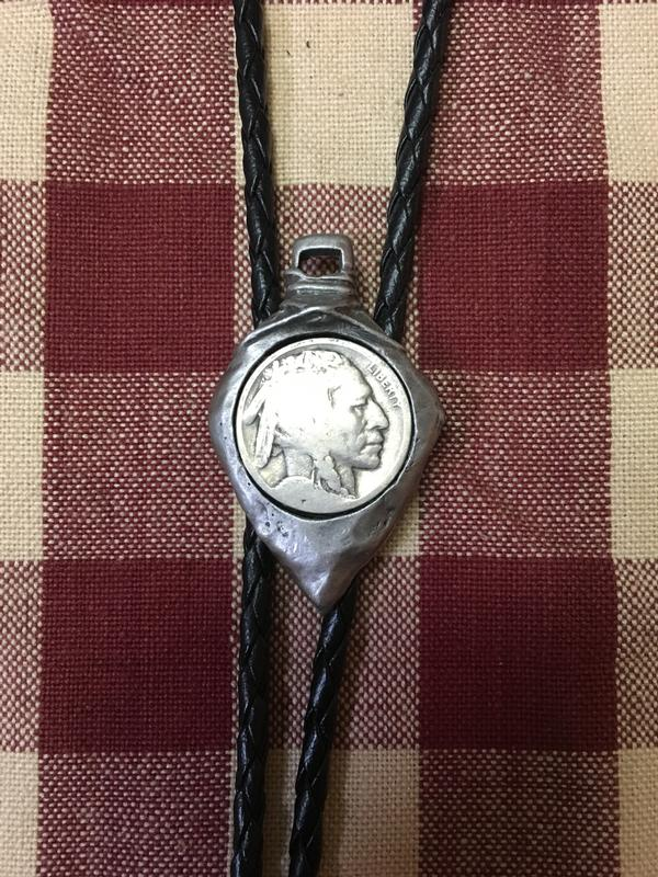 Rockmount Ranch Wear Accessory: Bolo Tie Arrowhead with Antique Nickel