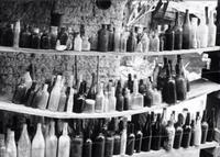 Photographer In The Lens, Bill Birkemeier: Note Card Ghost Town Bottles B& W
