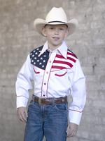 Rockmount Ranch Wear Children's Vintage Western Shirt: Flag Design Show Your Colors