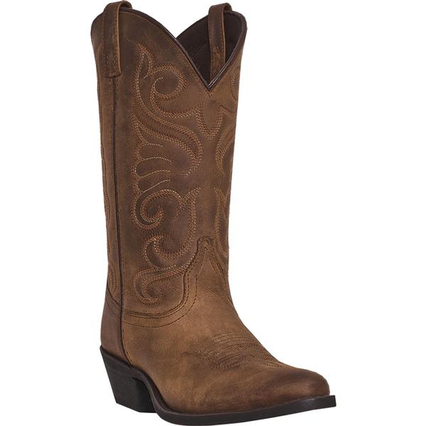 Ladies' Dan Post Boots Western Laredo: Bridget Tan Round Toe M 6-10