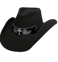 Bullhide Hats: Wool State of Grace Black