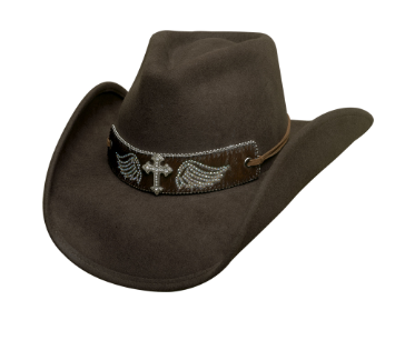 Bullhide Hats: Fashion Felt State of Grace Chocolate