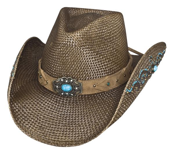 Bullhide Hats Sassy Cowgirl Collection: Straw Genuine Panama Amnesia Brown S-XL