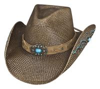 Bullhide Hats: Straw Panama Amnesia Brown