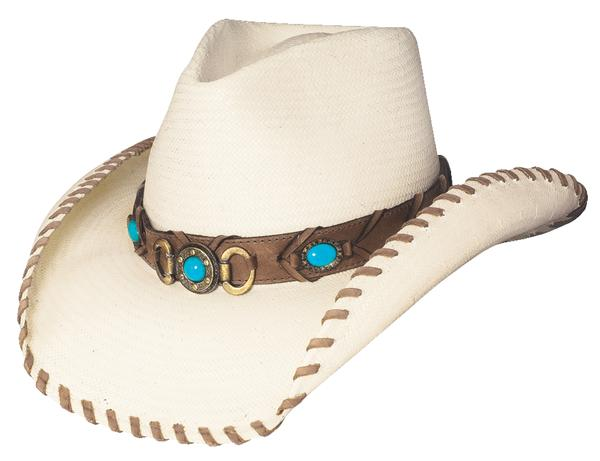 Bullhide Hats Sassy Cowgirl Collection: Straw Shantung Panama Best of the West Natural S-XL