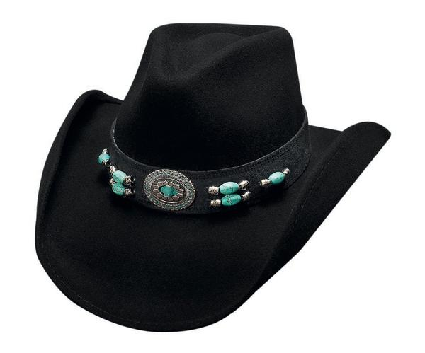 Bullhide Hats: Fashion Felt Jewel of the West Black