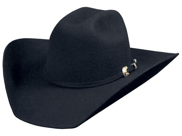 Bullhide Hats: Felt Rodeo Kingman 4X Black