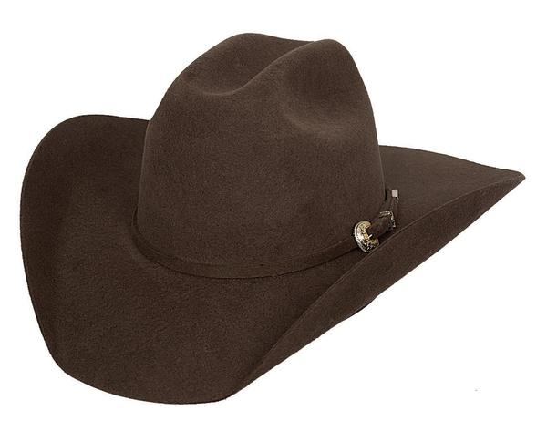 Bullhide Hats: Felt Rodeo Kingman 4X Chocolate