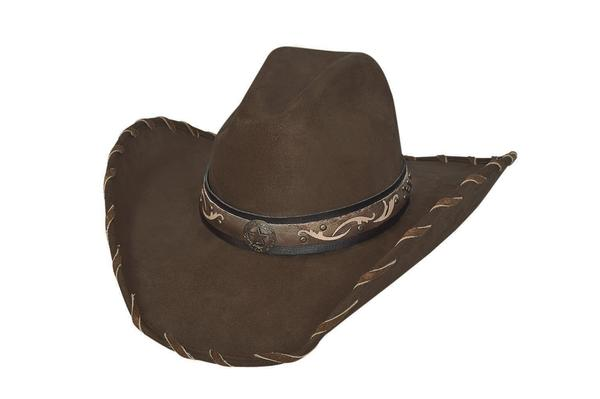 Bullhide Hats: Fashion Faux Felt Straight Shooter Chocolate