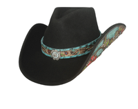 Bullhide Hats: Decorated Wool Crazy Beautiful Black