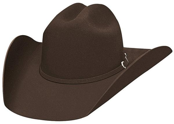 Bullhide Hats: Felt Rodeo Appaloosa Chocolate