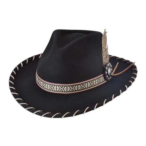 Bullhide Hats: Couture Felt Frenzy Black NEW